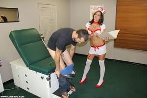 Cheer leader gets hands full as she jerk - XXX Dessert - Picture 2