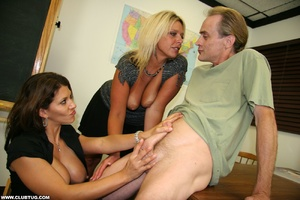 Two hot lesbian friends give man's cock  - XXX Dessert - Picture 6
