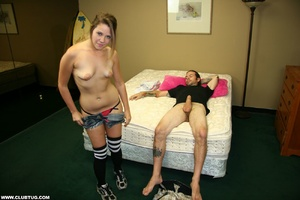 Guy gets a wild experience as cute chick - XXX Dessert - Picture 5