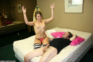 Guy gets a wild experience as cute chick - XXX Dessert - Picture 12