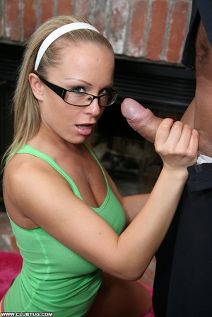 Naughty cute girl in glasses double work - XXX Dessert - Picture 4