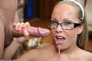 naughty cute girl glasses