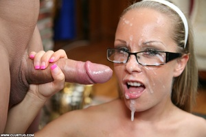 Naughty cute girl in glasses double work - XXX Dessert - Picture 11
