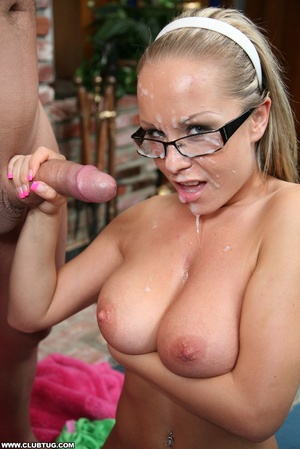 Naughty cute girl in glasses double work - XXX Dessert - Picture 12