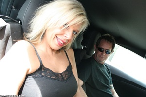 Guy in car gets his long shaft handled e - XXX Dessert - Picture 1