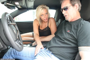 Guy in car gets his long shaft handled e - XXX Dessert - Picture 2