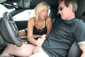 Guy in car gets his long shaft handled e - XXX Dessert - Picture 5