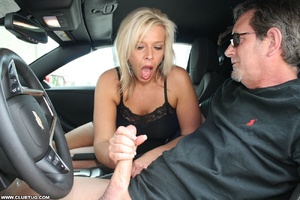 Guy in car gets his long shaft handled e - XXX Dessert - Picture 6