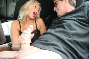 Guy in car gets his long shaft handled e - XXX Dessert - Picture 7