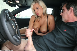 Guy in car gets his long shaft handled e - XXX Dessert - Picture 8