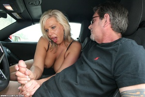 Guy in car gets his long shaft handled e - XXX Dessert - Picture 10