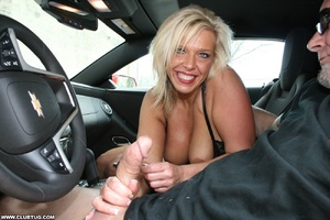 Guy in car gets his long shaft handled e - XXX Dessert - Picture 12