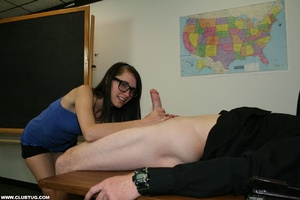 Innocent looking cock grabber in glasses - XXX Dessert - Picture 7