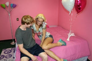 Blonde in glasses gives a guy a wild rid - XXX Dessert - Picture 12