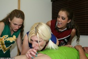 naughty cheerleader sucks and