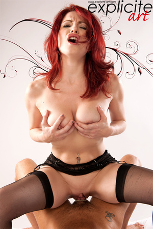 Hot red hair French babe takes cock in m - XXX Dessert - Picture 5