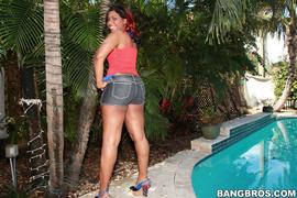 ass, ebony, shorts, tight
