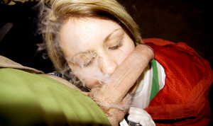 Smoking teen Aneta in gloves begs to cum - XXX Dessert - Picture 8