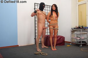 18 yo teen babe gets roped and collared  - XXX Dessert - Picture 5
