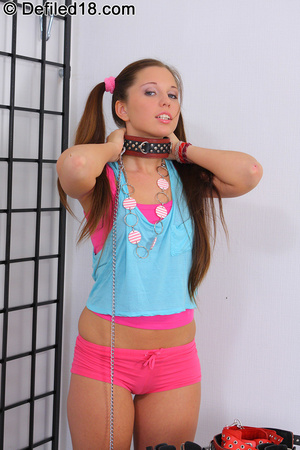 Pretty bondaged teen gets hard thick coc - XXX Dessert - Picture 2
