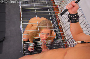 Blonde teen April tied up and used as ra - XXX Dessert - Picture 12