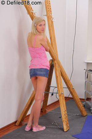 Skinny teen Mya gets let out of her cage - XXX Dessert - Picture 2