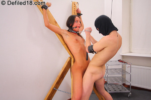Tied up brunette Abby forced to deepthro - XXX Dessert - Picture 13