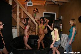 cash, lesbian, tub, wet