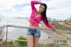 beautiful, latina, tits, tourist