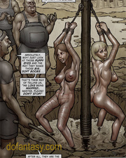 two enslaved girls suspended