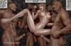 Black naked slaves torturing badly beautiful chicks