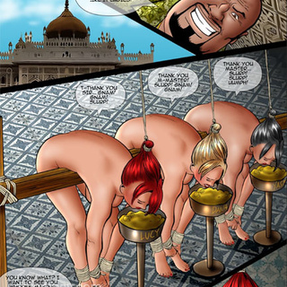 Ponytailed slave babes in chains and - BDSM Art Collection - Pic 2