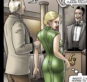 Rude master slamming blonde slave chick's asshole