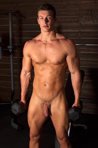 sexy muscular guy adores