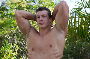 Sexy muscular guy adores demonstrating h - XXX Dessert - Picture 14