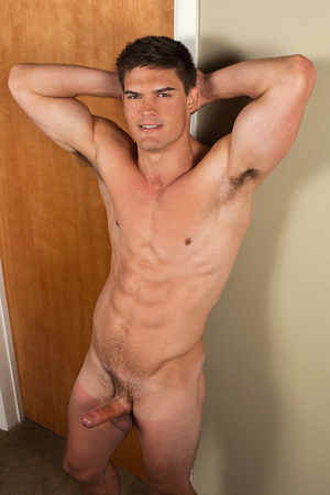 Sexy gay dude posing nude with his dick  - XXX Dessert - Picture 11