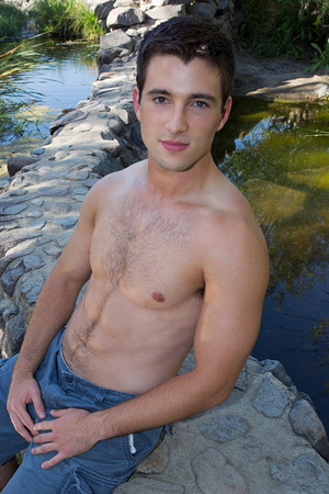 Seductive brunette gay lad posing on cam - XXX Dessert - Picture 1