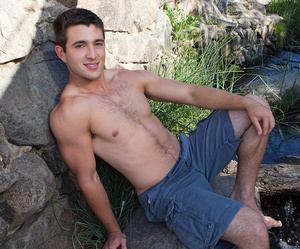 Seductive brunette gay lad posing on cam - XXX Dessert - Picture 4