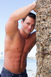 brunette hunk beating his