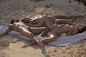 Crazy threesome orgy at the ocean - XXX Dessert - Picture 3
