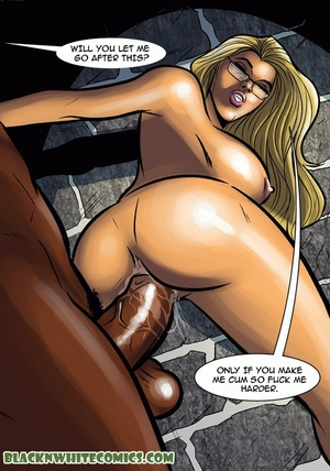 Blonde bitch in glasses enslaves black g - XXX Dessert - Picture 5