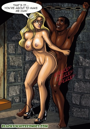Blonde bitch in glasses enslaves black g - XXX Dessert - Picture 6
