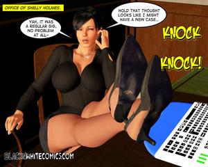 3D secretary masturbating spying her bla - XXX Dessert - Picture 1
