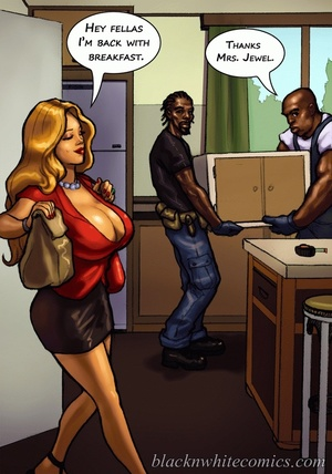 Ponytailed chick meets a black dude with - XXX Dessert - Picture 5
