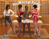 Black dude served by two Thai massagist girls