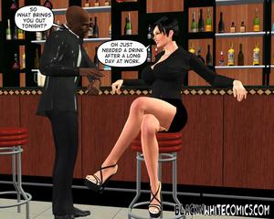 White brunette seduces bald black dude t - XXX Dessert - Picture 3