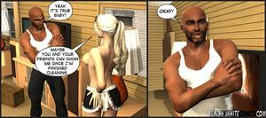 Three black guys enjoy hot blonde maid p - XXX Dessert - Picture 4