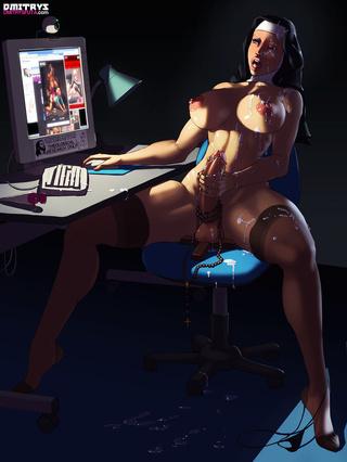 muscular tranny enjoys her