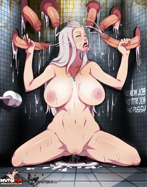 Dirty whore washing with sperm from six  - XXX Dessert - Picture 4