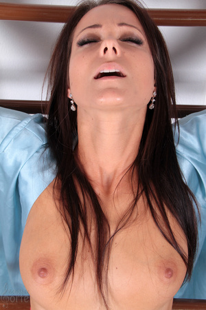 Naked brunette is brutally bound and spr - XXX Dessert - Picture 12